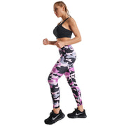 PINK & BLUE ZEBRA PRINTED LEGGINGS