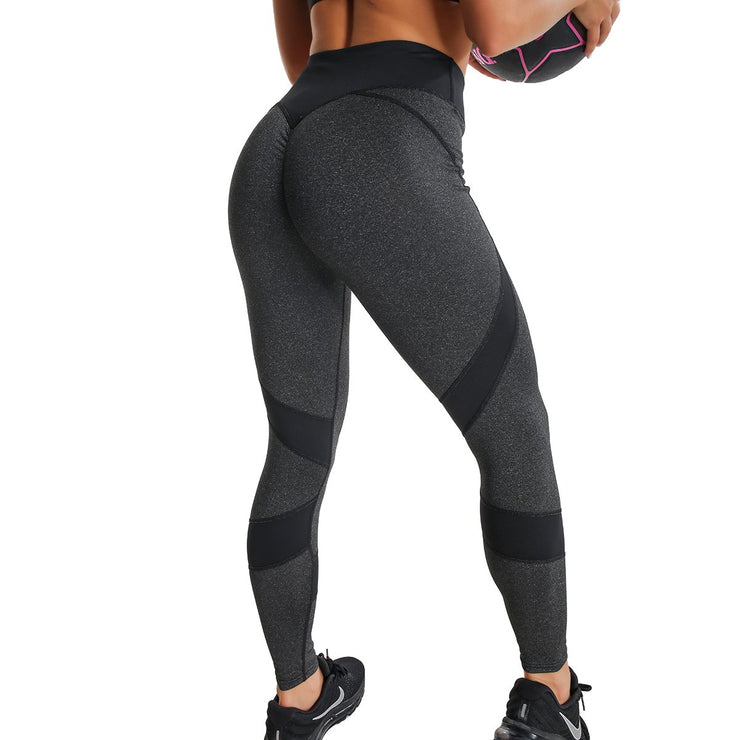 FULL BLACK HIGH-RISE SPIRAL LEGGINGS