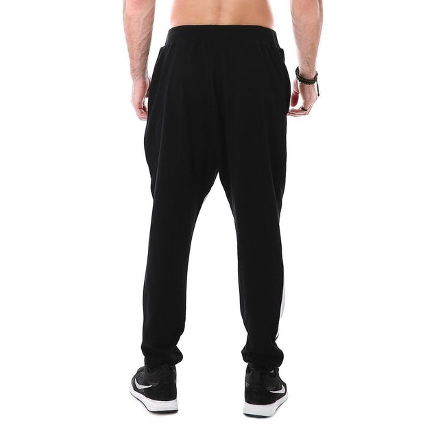Jet Black with White Joggers - Lotus Leggings
