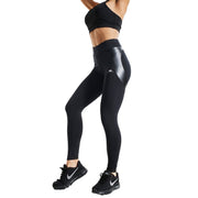 BLACK REFLECTIVE RUNNING LEGGINGS