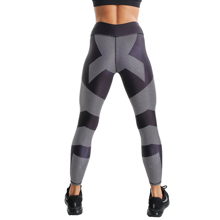 BLACK & GREY ANDROMEDA PRINTED LEGGINGS