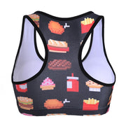 FAST FOOD YUM SPORTS BRA - Lotus Leggings
