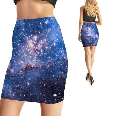 FORBIDDEN GALAXY BODYCON SKIRT