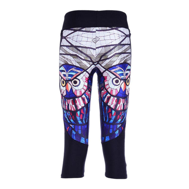 GLASS OWL ATHLETIC CAPRI - Lotus Leggings