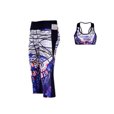 GLASS OWL ATHLETIC SET