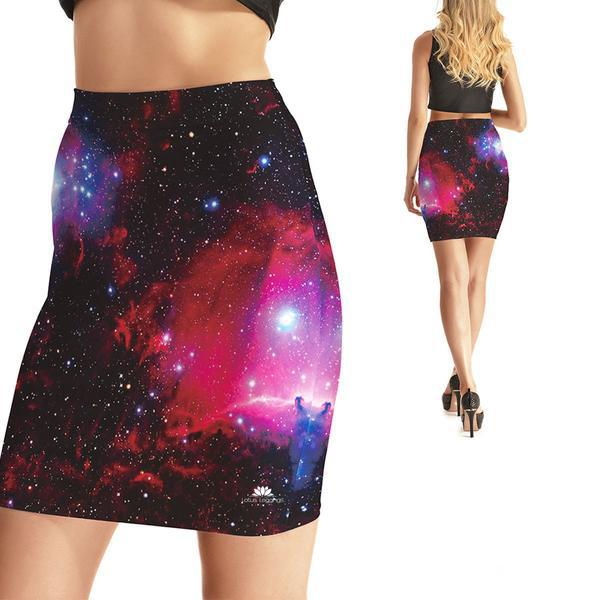 GALAXY TAKEOVER BODYCON SKIRT