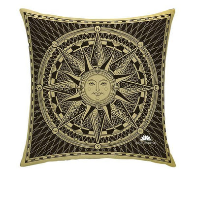 GOLDEN COMPASS PILLOW COVER