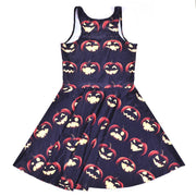 JACK O'LANTERN PRINTED SKATER DRESS - Lotus Leggings
