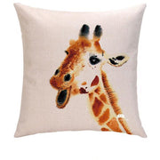 JOYFUL GIRAFFE PILLOW COVER