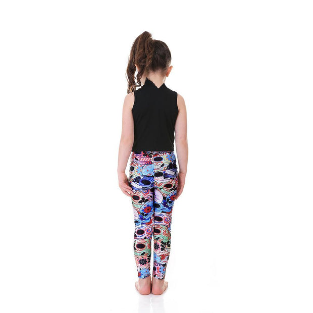 Kid's Day of the Dead Leggings - Lotus Leggings