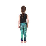 Kid's Peacock Leggings - Lotus Leggings