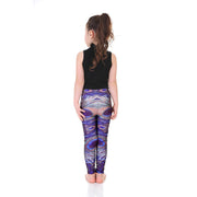 Kid's Peacock Feather Leggings - Lotus Leggings