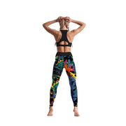HIGH-RISE ABSTRACT LEGGINGS