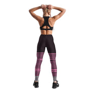 PINK SPORTY STRIPE LEGGINGS