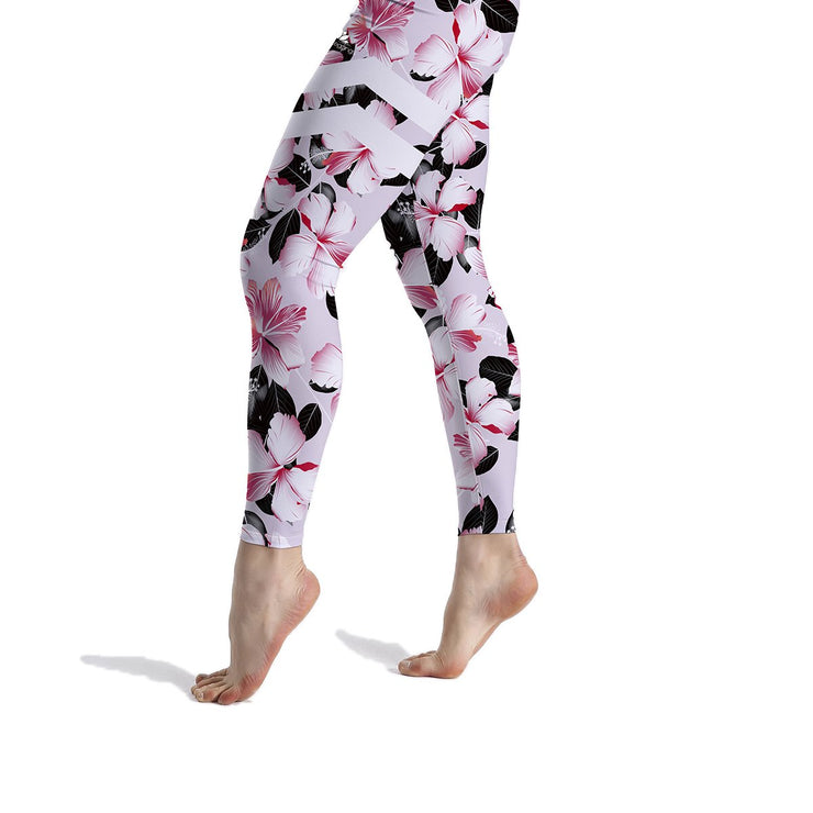 HIGH-RISE LIGHT PINK FLORAL LEGGINGS