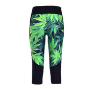 MARIJUANA ATHLETIC CAPRI - Lotus Leggings