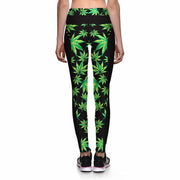 MARIJUANA ATHLETIC LEGGINGS - Lotus Leggings