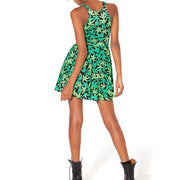 MARIJUANA REVERSIBLE SKATER DRESS - Lotus Leggings