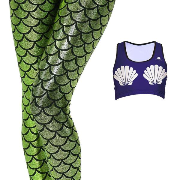 MERMAID + SHELL BRA SET