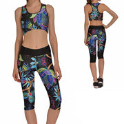 NEON FLORAL ATHLETIC SET - Lotus Leggings