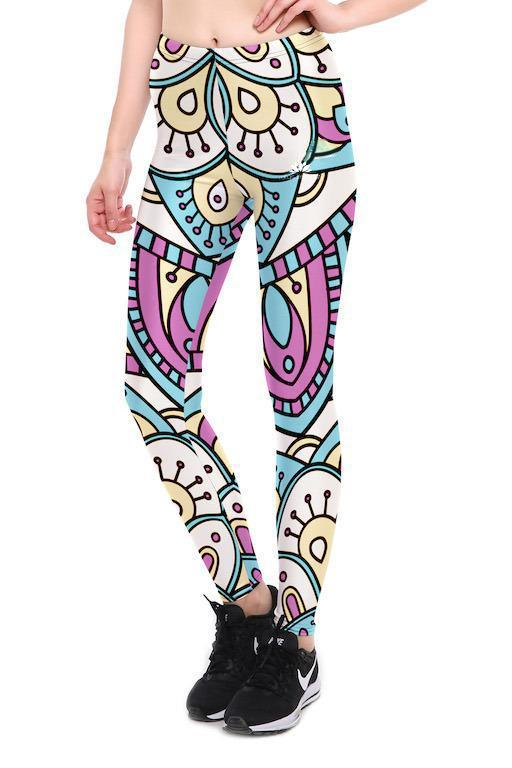 PASTEL MANDALA LEGGINGS