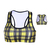 PLAID SPORTS BRA