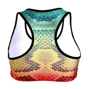 RAINBOW SNAKESKIN SPORTS BRA - Lotus Leggings