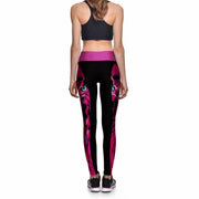 MAGENTA OWL ATHLETIC LEGGINGS - Lotus Leggings
