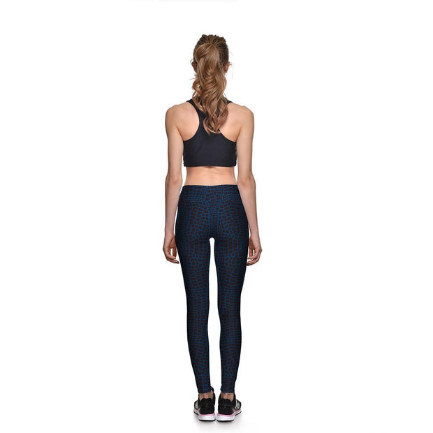 Snakeskin Athletic Leggings - Lotus Leggings