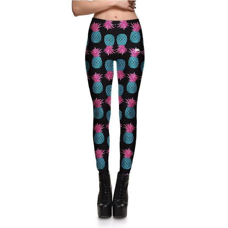 TURQUOISE PINEAPPLE LEGGINGS
