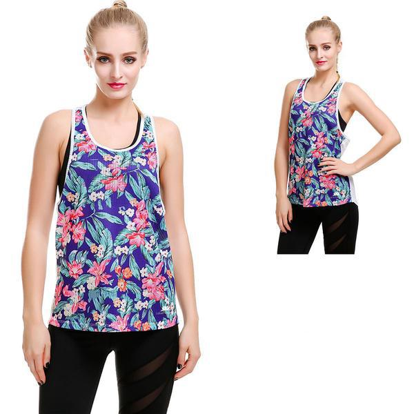 THROW BACK FLORAL TRAINX TOP