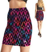 TRIANGLE GALAXY BODYCON SKIRT