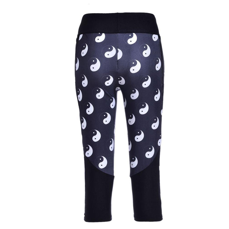 YIN YANG ATHLETIC CAPRI - Lotus Leggings