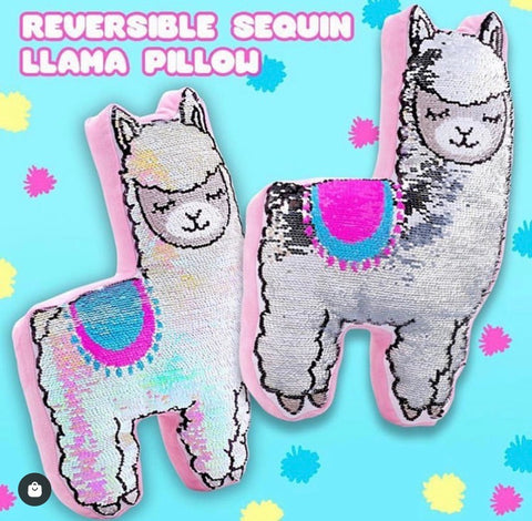 Reversible Sequins Llama Plush