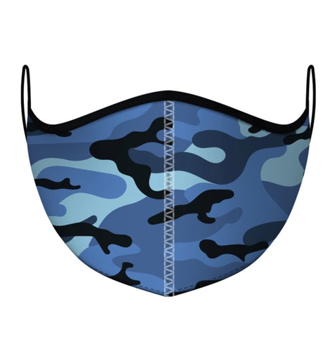 Reusable Blue Camoflauge Masks