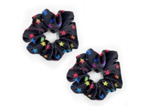 Multi-Color Star Scrunchies