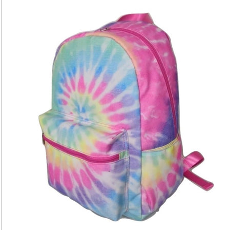 Pastel Rainbow Tie Dye Backpack