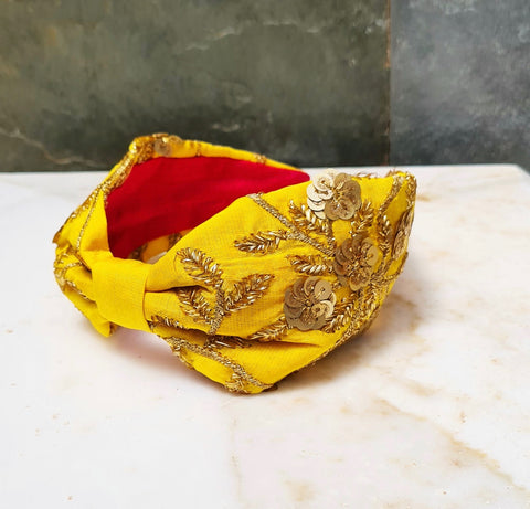 Yellow Gold Jaipur Headband