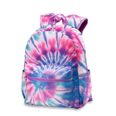 Purple Pink Blue Ice Tie Dye Backpack