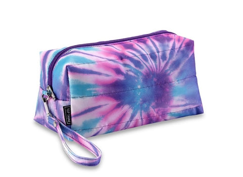 Tie Dye Spiral Puffer Cosmetic Bag