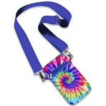 Rainbow Puffer Tie Dye Crossbody Cell Bag