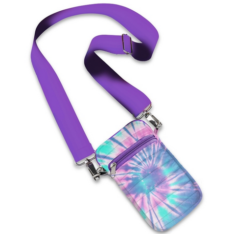 Ice Tie Dye Puffer Crossbody Cell Bag