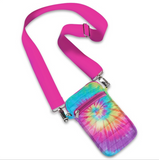 Pink Tie Dye Puffer Crossbody Cell Bag