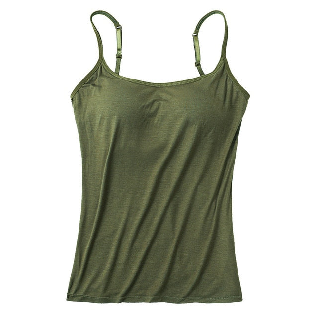 Women's Built-in Bra Tank Tops Camisole