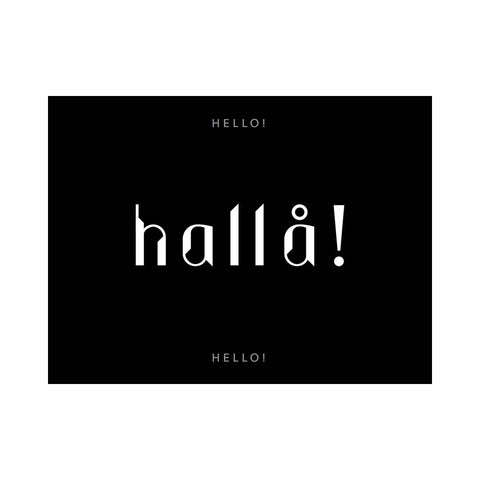 Note Card - Hello