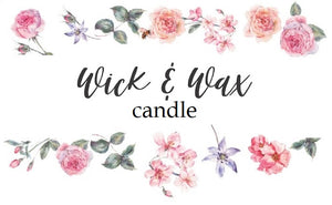 Wick & Wax Candle