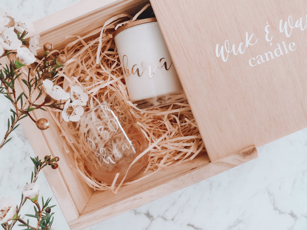 Timber Gift Box/Keepsake box Packaging