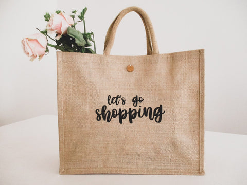 'Let's go shopping' Tote Bag