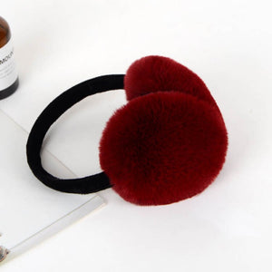 Winter Earmuff Imitation Rabbit Fur Earmuff Thick Fur Winter Ear Warmer Fluffy Fur Headphone for Children and Adult