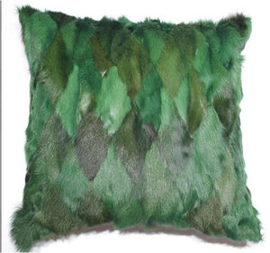 Natural Goat Fur Pillow Case Patchwork Real Fur Pillow Cover Soft Luxury Kid Skin Cushion Pillowcase